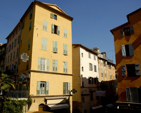 Picture - The old town area of Grasse.