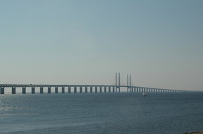 Picture - Oresund Bridge between Denmark and Sweden.