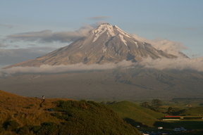 Picture - View of Mount Taranaki from Parihaka.