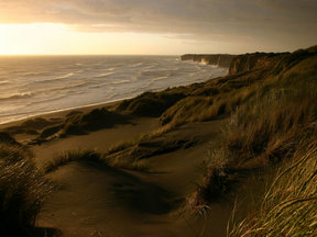 Picture - Sunset on Patea Beach.