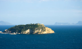 Picture - View of Nisida,island in the gulf of Pozzuoli.