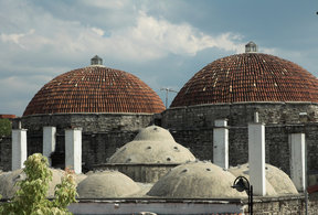 Picture - The Roof of a Turkish hamam (Steambath) in Safranbolu.