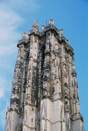 Picture - Sint-Rombouts Cathedral tower in Mechelen.
