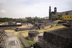Picture - The Square of the Three Cultures in Mexico City.