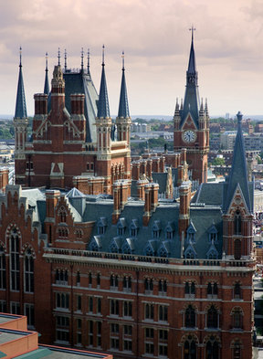 Picture - Exterior of the St Pancras Station in London.