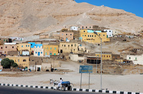 Picture - Egyptian village of Gurna near the Valley of the Queens.