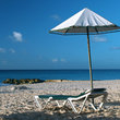 A beach umbrella in Barbados.