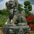 A Chinese dragon statue at the Museum Viharnra Sien.