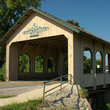 A covered bridge in Glen Carbon, IL.