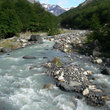 A river through Torres del Paine.