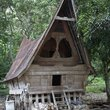 A traditional batak style house at Lake Toba.