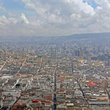 Aerial view over Quito.