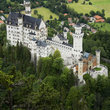 Aerial view over the Castle Nuschanstein.