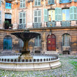 Fountain in a courtyard in Aix-en-Provence.