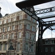 Lift bridge over Kloveniersburgnal in Amsterdam.