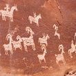 Ancient petroglyph rock art in Southwest Utah.