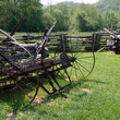 Antique farm equipment in Great Smoky Mountains National Park, North Carolina.