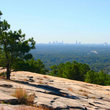 View of Atlanta from a distant hill.