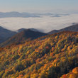 Autumn view in Smoky Mountains National Park, North Carolina.