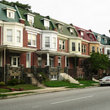 Row of townhouses in Baltimore.