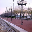 Lamp posts along the Quay, Baltimore.