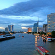 Boats on the Chao Phraya River, Bangkok.