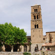 Bell tower in Moustiers-Ste-Marie.