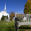 Bench on Church grounds in New Hampshire.