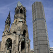 Gedaechtnis kirche and high rise in Berlin.