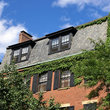 Ivy covered building on Charles Street in Boston, Massachusetts.