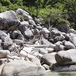 Boulders on the coast of Mango Bay, Koh Tao Island.