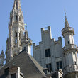 Spires in Brussels city center.
