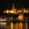 Night view of Budapest.