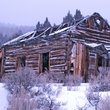 Building in the ghost town of Comet, Montana.