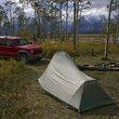 Camping at the base of Shadow Mountain, Wyoming.