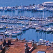 View over the Cannes Harbor.
