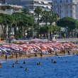 The beach at Cannes.