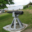Cannon at Fort Warren on Georges Island, Boston, MA.