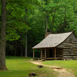 Carter Shields Historic Cabin in Cades Cove, Tennessee.
