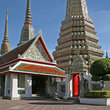 Chedis at Wat Pho in Bangkok.