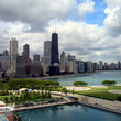 Chicago Cityscape, view from Navy Pier.