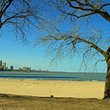 Ohio Street Beach in Chicago, IL.