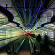 Inside O'Hare Airport, Chicago.