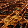 Chicago Interstate at night.