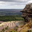 Cliff of Simonside Hills in Northumberland.