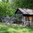 Colonial cabin in Great Smoky Mountains National Park, North Carolina.