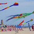 Colorful Kites at the New York Kite Festival in Jacob Riis Park.