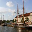 Tall ships in the harbor of Copenhagen.