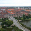 Aerial view of Copenhagen.