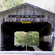Covered bridge entrance to Lake of the Woods Park, IL.